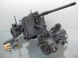 21st WWII German 88mm Gun Flak 36/37 1/18 Grey Version