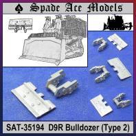 Spade Ace 1/35 Metal Track for D9R Doobi Armored Bullozer